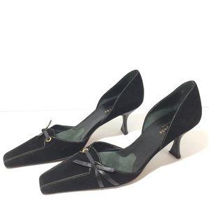 b918e88d593 kate spade Shoes - Kate Spade Black Suede Kitten Heel Pumps